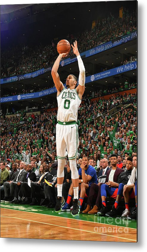 Playoffs Metal Print featuring the photograph Jayson Tatum by Jesse D. Garrabrant