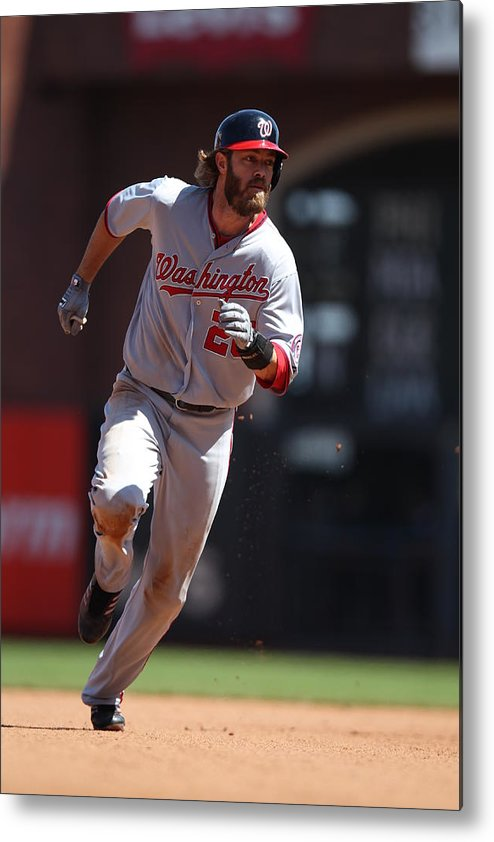 San Francisco Metal Print featuring the photograph Jayson Werth by Brad Mangin