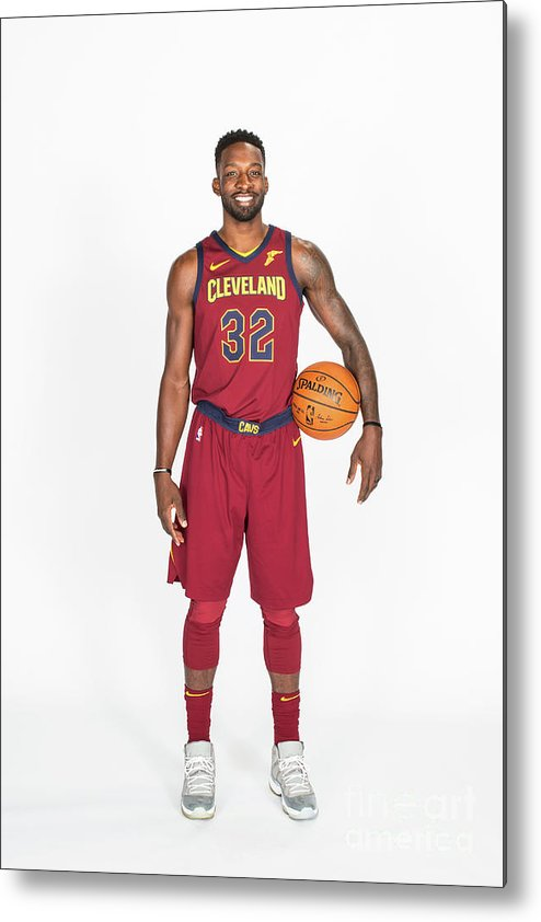 Media Day Metal Print featuring the photograph Jeff Green by Michael J. Lebrecht Ii