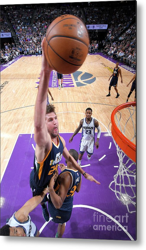 Nba Pro Basketball Metal Print featuring the photograph Jeff Withey by Rocky Widner
