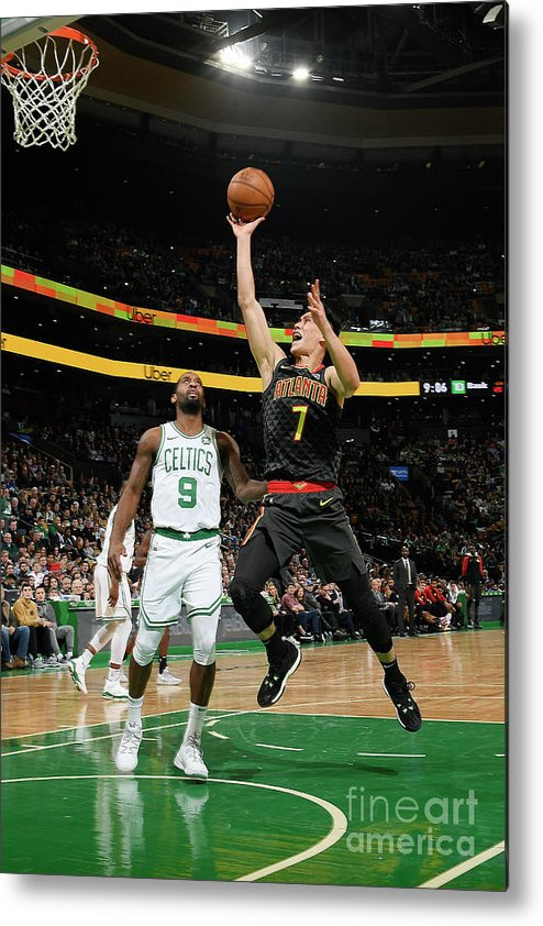 Nba Pro Basketball Metal Print featuring the photograph Jeremy Lin by Brian Babineau