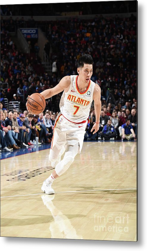 Nba Pro Basketball Metal Print featuring the photograph Jeremy Lin by David Dow