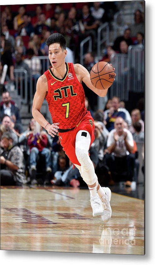 Nba Pro Basketball Metal Print featuring the photograph Jeremy Lin by David Liam Kyle