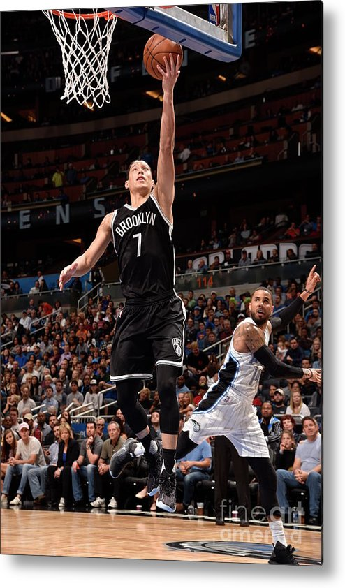 Nba Pro Basketball Metal Print featuring the photograph Jeremy Lin by Gary Bassing