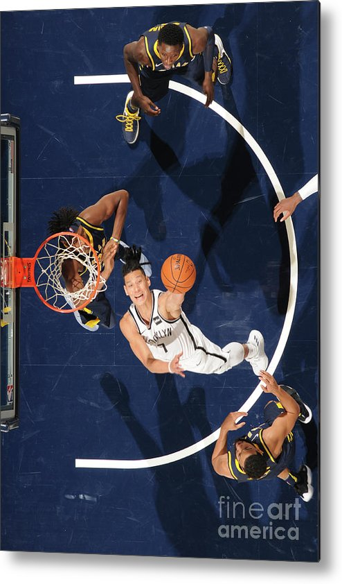 Nba Pro Basketball Metal Print featuring the photograph Jeremy Lin by Ron Hoskins