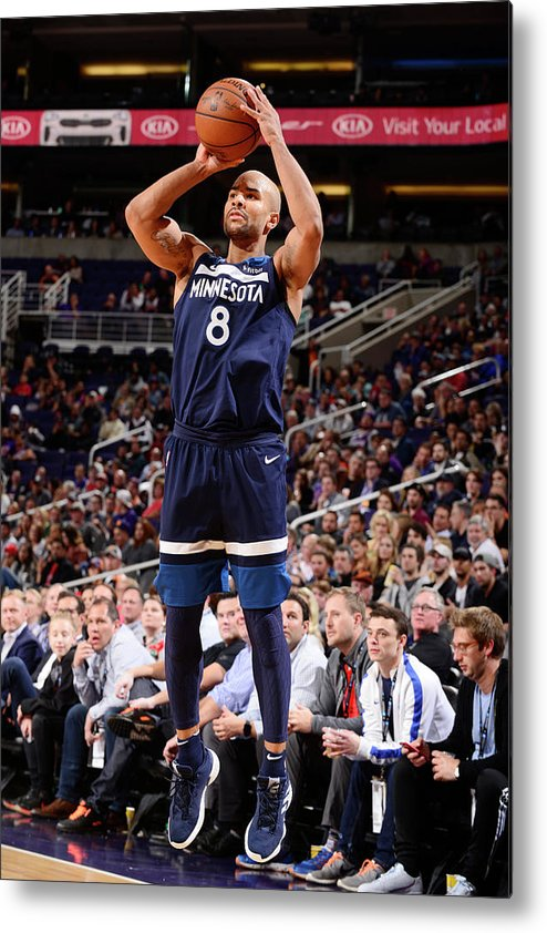 Nba Pro Basketball Metal Print featuring the photograph Jerryd Bayless by Barry Gossage