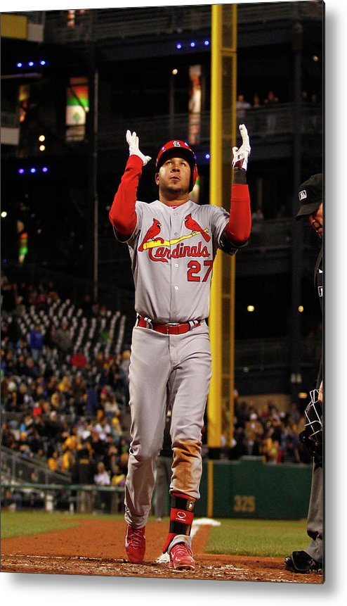 St. Louis Cardinals Metal Print featuring the photograph Jhonny Peralta by Justin K. Aller