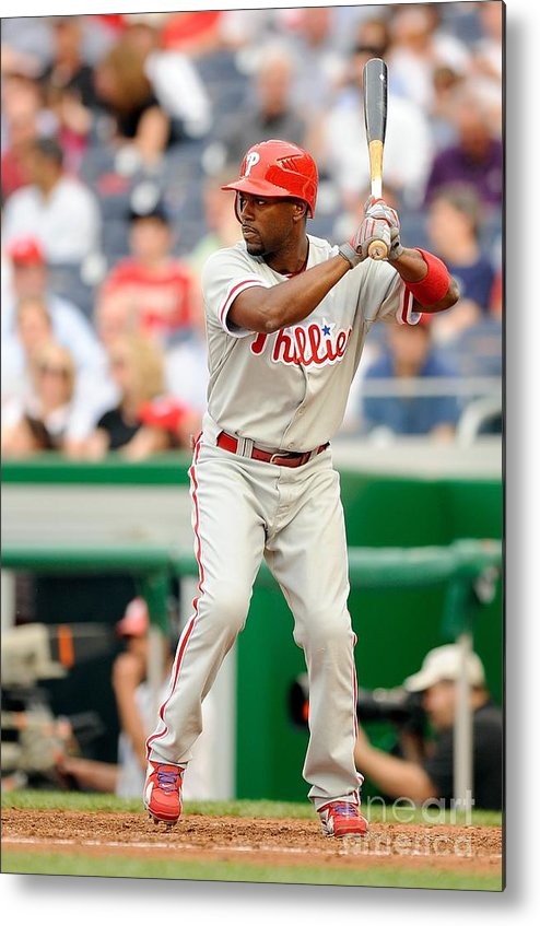 National League Baseball Metal Print featuring the photograph Jimmy Rollins by G Fiume