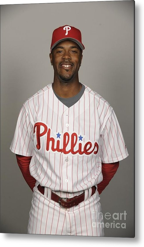 Media Day Metal Print featuring the photograph Jimmy Rollins by Tony Firriolo