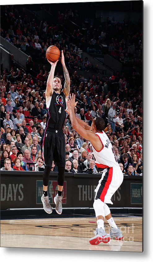 Nba Pro Basketball Metal Print featuring the photograph J.j. Redick by Sam Forencich