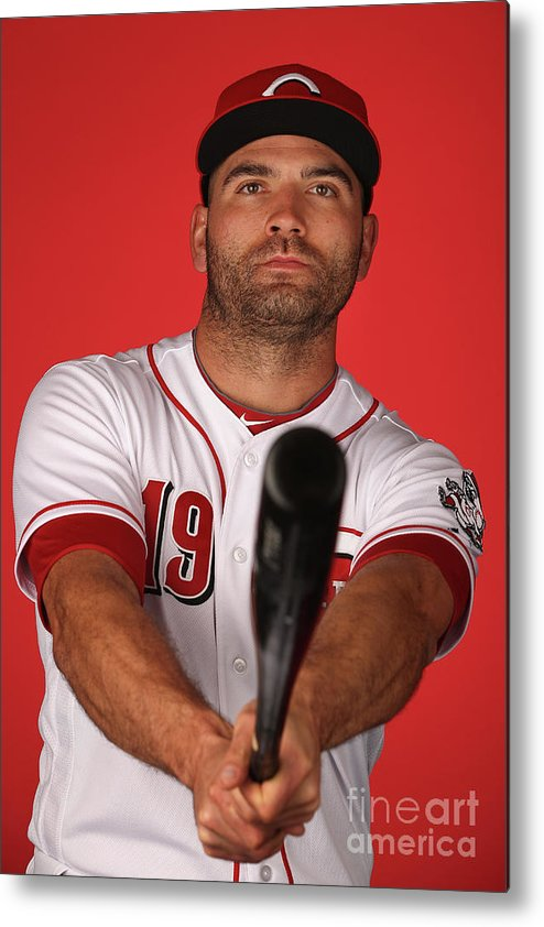 Media Day Metal Print featuring the photograph Joey Votto by Christian Petersen