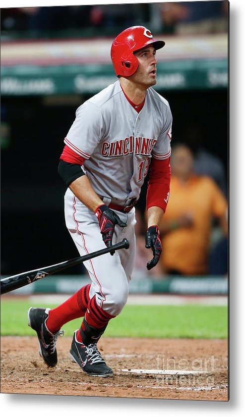 Ninth Inning Metal Print featuring the photograph Joey Votto by Ron Schwane