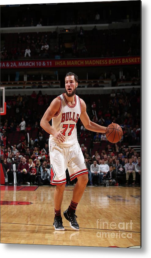 Nba Pro Basketball Metal Print featuring the photograph Joffrey Lauvergne by Gary Dineen