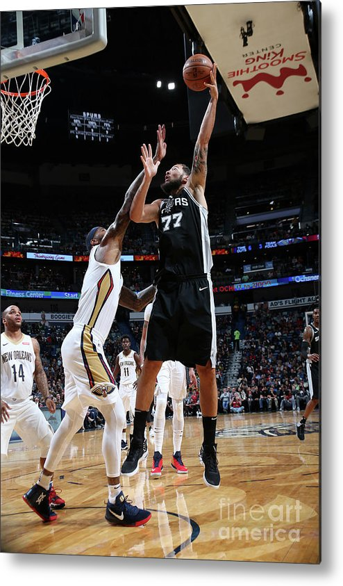 Smoothie King Center Metal Print featuring the photograph Joffrey Lauvergne by Layne Murdoch Jr.