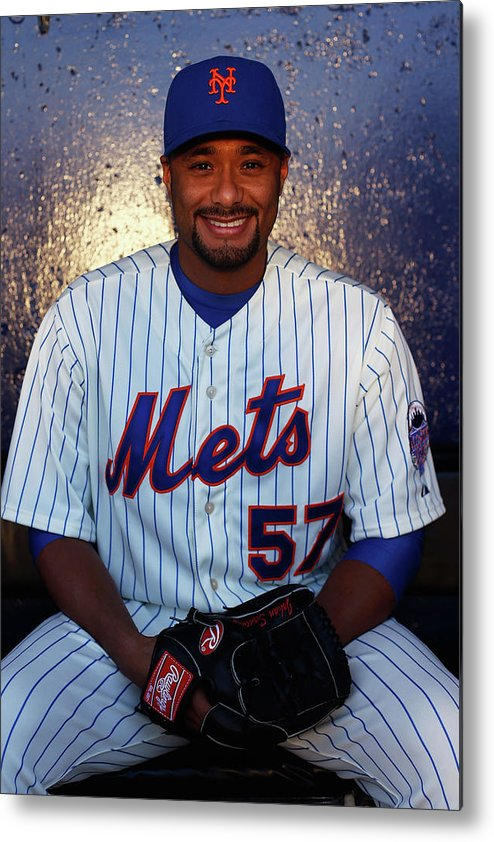 Media Day Metal Print featuring the photograph Johan Santana by Chris Trotman