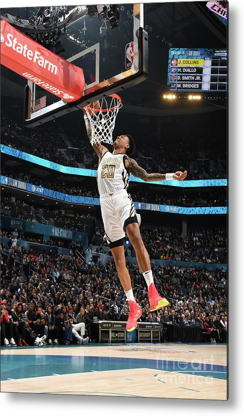 Nba Pro Basketball Metal Print featuring the photograph John Collins by Andrew D. Bernstein