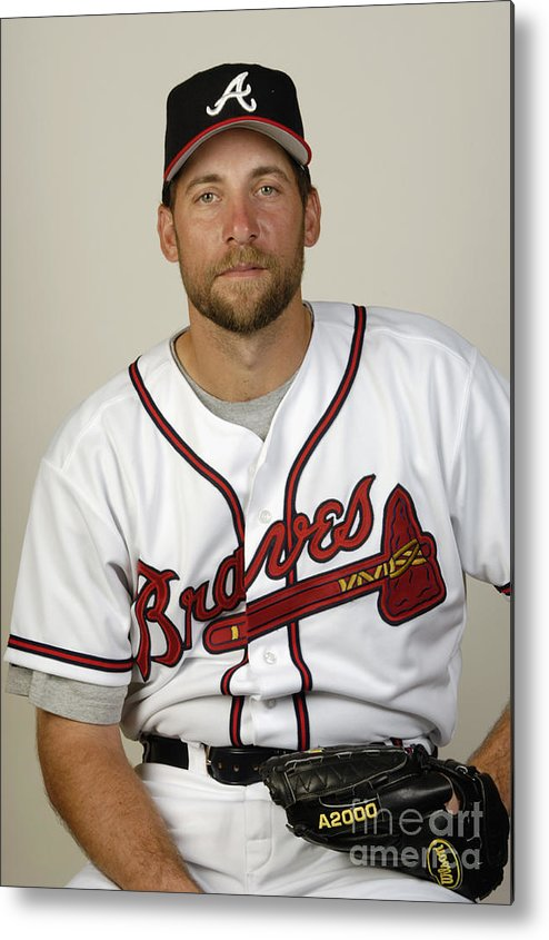 Media Day Metal Print featuring the photograph John Smoltz by Fernando Medina