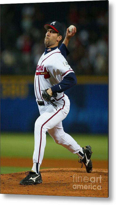 Atlanta Metal Print featuring the photograph John Smoltz by Jamie Squire