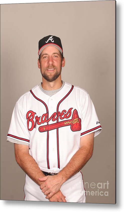 Media Day Metal Print featuring the photograph John Smoltz by Tony Firriolo