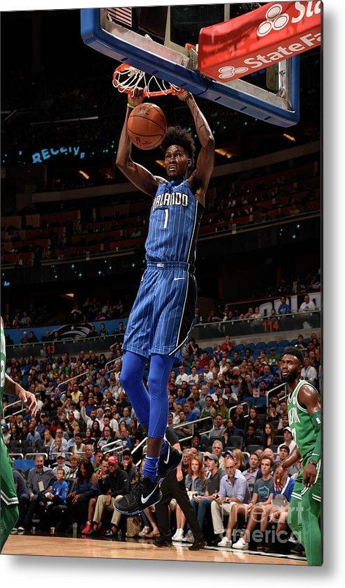 Nba Pro Basketball Metal Print featuring the photograph Jonathan Isaac by Gary Bassing