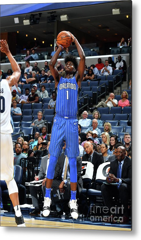 Nba Pro Basketball Metal Print featuring the photograph Jonathan Isaac by Jesse D. Garrabrant