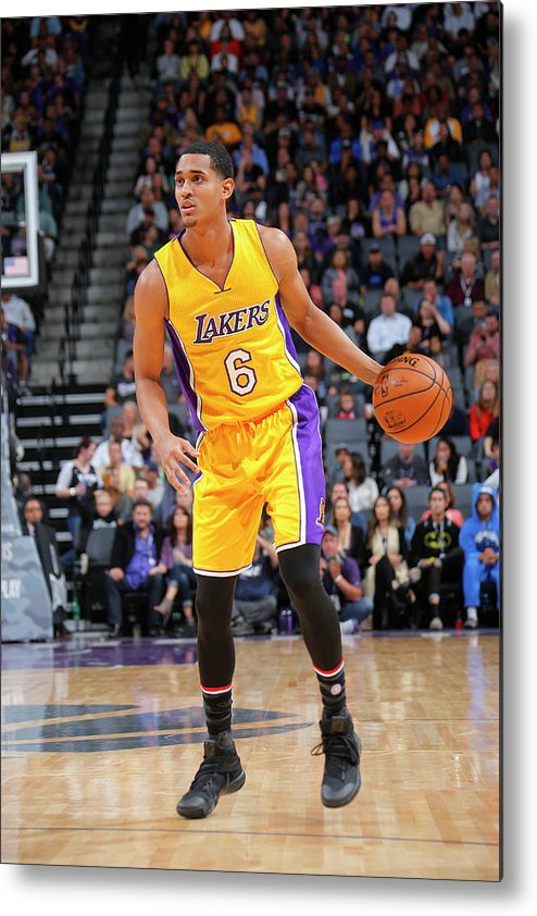 Nba Pro Basketball Metal Print featuring the photograph Jordan Clarkson by Rocky Widner