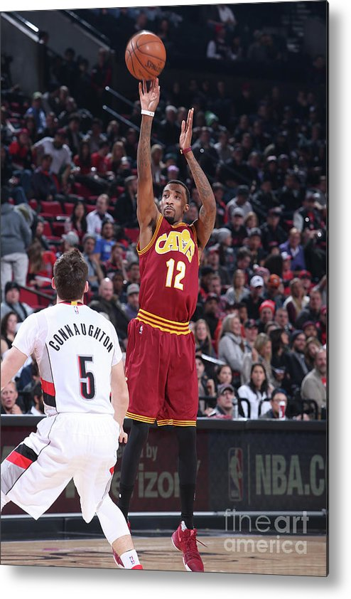 Nba Pro Basketball Metal Print featuring the photograph Jordan Mcrae by Sam Forencich