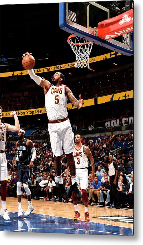 Nba Pro Basketball Metal Print featuring the photograph J.r. Smith by Gary Bassing