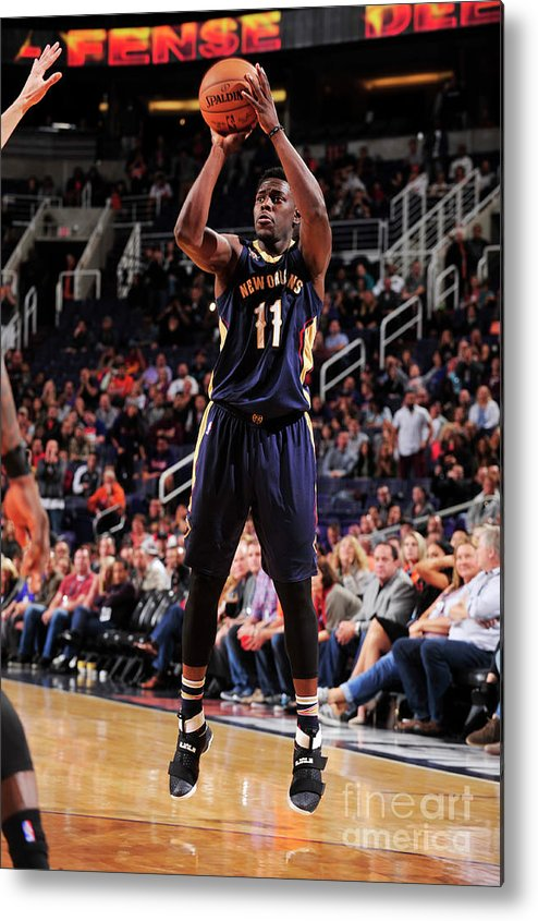 Nba Pro Basketball Metal Print featuring the photograph Jrue Holiday by Barry Gossage