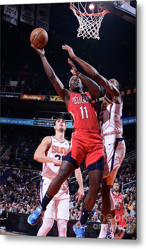 Nba Pro Basketball Metal Print featuring the photograph Jrue Holiday by Michael Gonzales