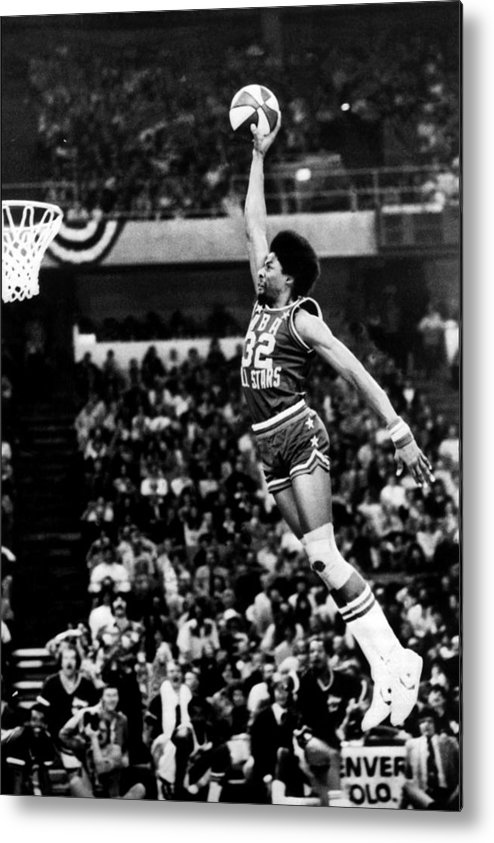 Mcnichols Sports Arena Metal Print featuring the photograph Julius Erving by Nba Photos