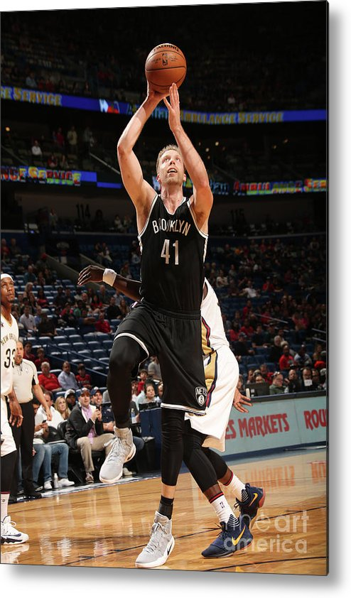 Smoothie King Center Metal Print featuring the photograph Justin Hamilton by Layne Murdoch