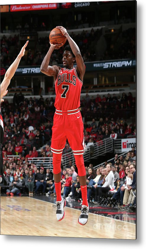 Nba Pro Basketball Metal Print featuring the photograph Justin Holiday by Gary Dineen