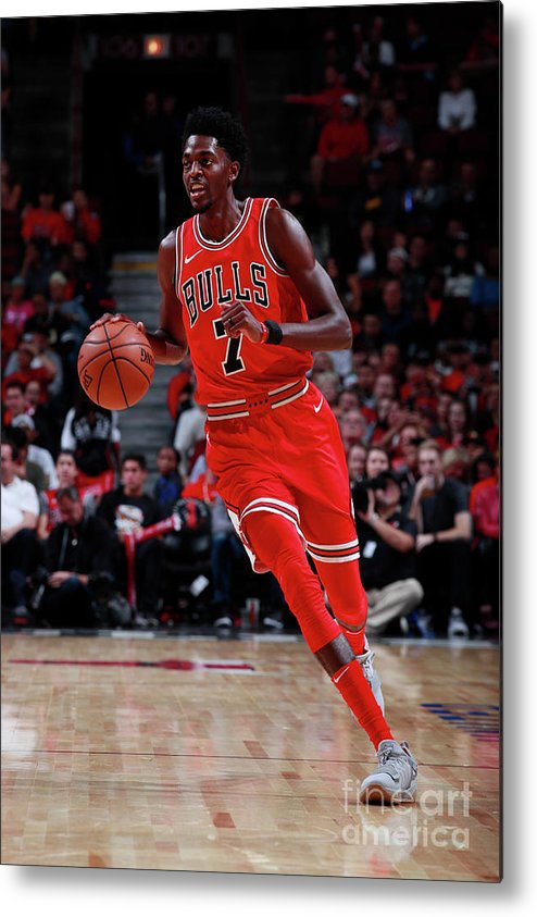 Nba Pro Basketball Metal Print featuring the photograph Justin Holiday by Jeff Haynes