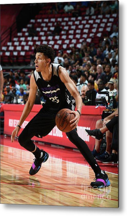 Nba Pro Basketball Metal Print featuring the photograph Justin Jackson by Garrett Ellwood