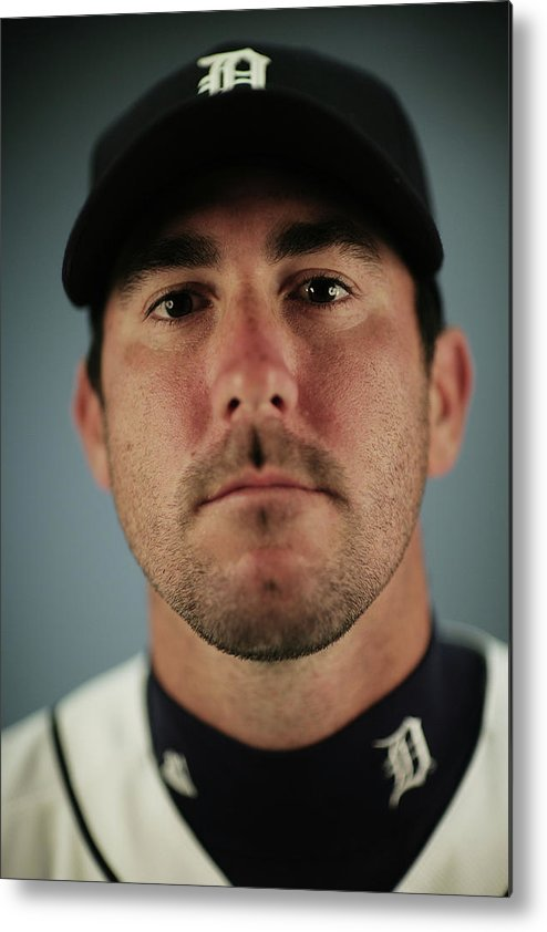 Media Day Metal Print featuring the photograph Justin Verlander by Nick Laham