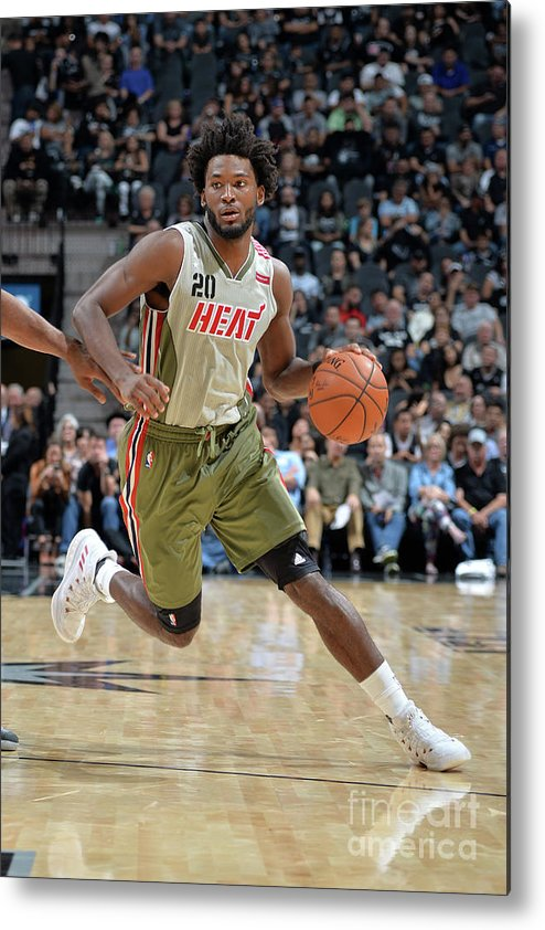 Justise Winslow Metal Print featuring the photograph Justise Winslow by Mark Sobhani