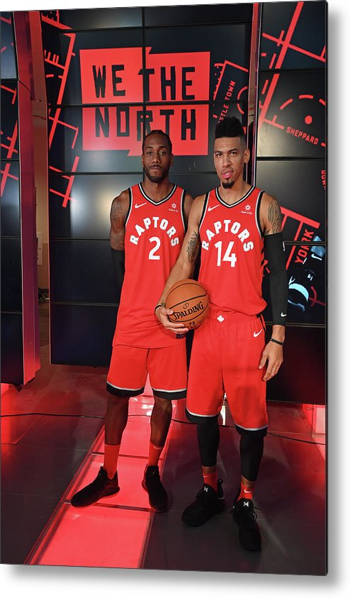 Media Day Metal Print featuring the photograph Kawhi Leonard and Danny Green by Ron Turenne