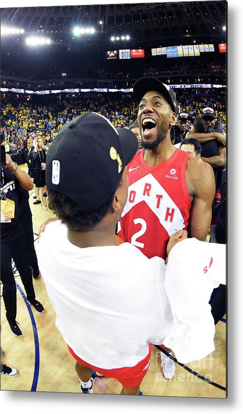 Playoffs Metal Print featuring the photograph Kawhi Leonard and Kyle Lowry by Andrew D. Bernstein