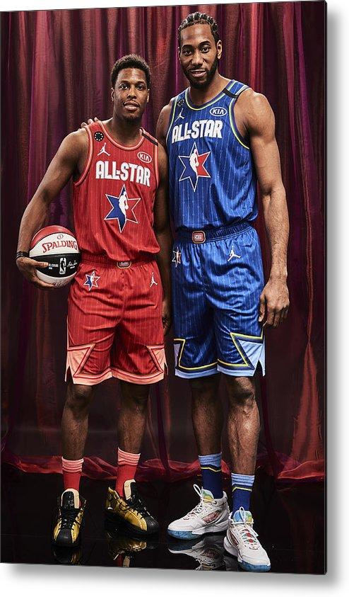 Nba Pro Basketball Metal Print featuring the photograph Kawhi Leonard and Kyle Lowry by Jennifer Pottheiser