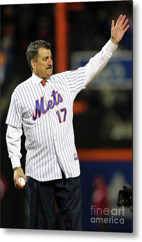 Three Quarter Length Metal Print featuring the photograph Keith Hernandez by Elsa