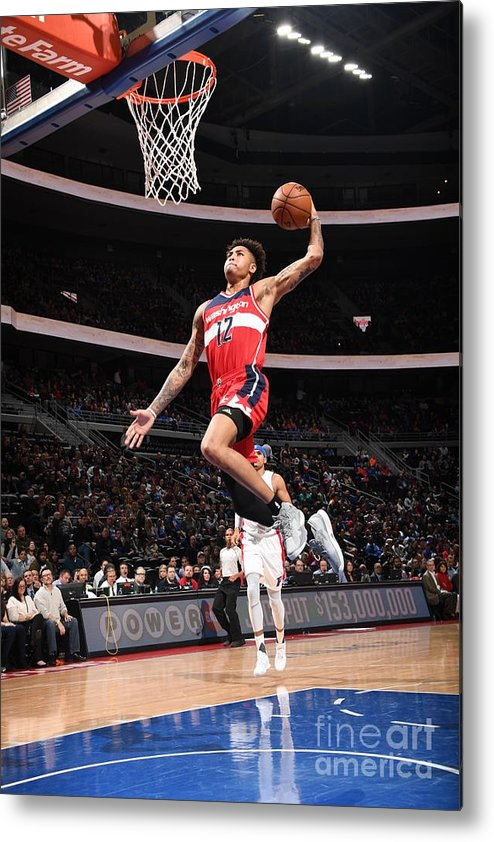 Nba Pro Basketball Metal Print featuring the photograph Kelly Oubre by Chris Schwegler