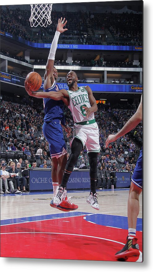 Kemba Walker Metal Print featuring the photograph Kemba Walker and Buddy Hield by Rocky Widner