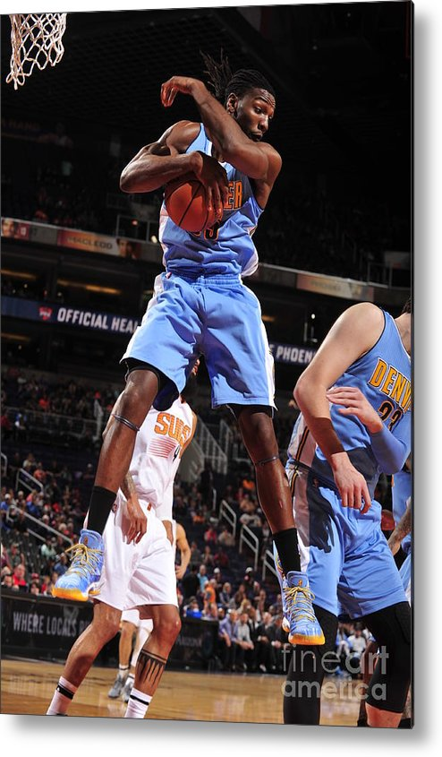 Nba Pro Basketball Metal Print featuring the photograph Kenneth Faried by Barry Gossage