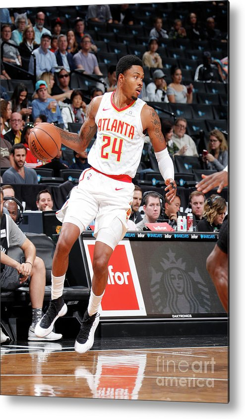 Nba Pro Basketball Metal Print featuring the photograph Kent Bazemore by Nathaniel S. Butler