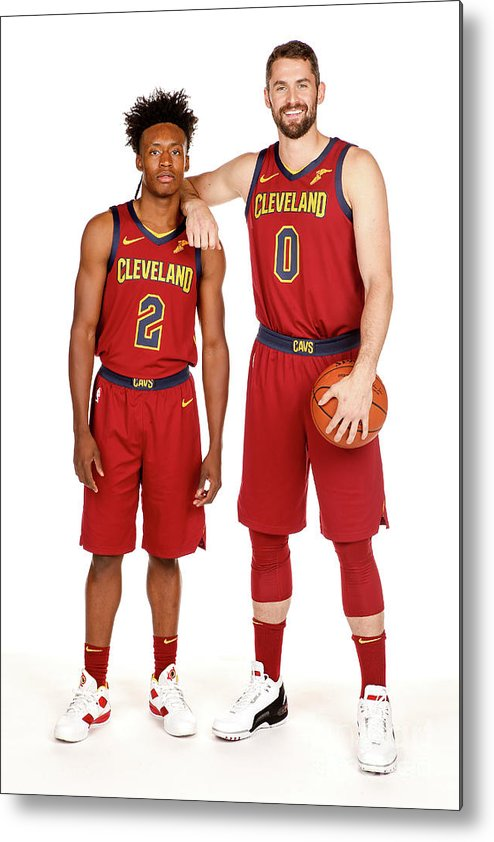 Media Day Metal Print featuring the photograph Kevin Love by Chris Marion