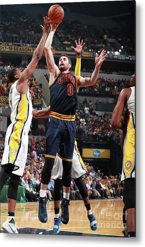 Playoffs Metal Print featuring the photograph Kevin Love by Jeff Haynes