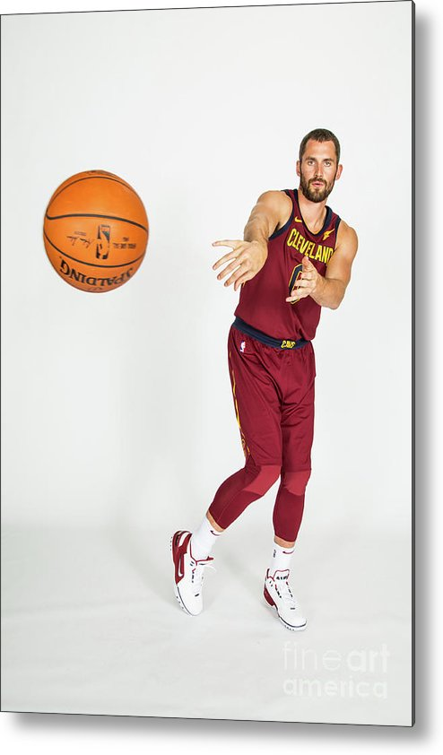 Media Day Metal Print featuring the photograph Kevin Love by Michael J. Lebrecht Ii