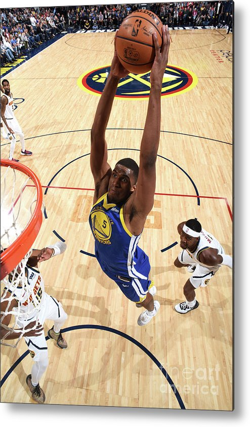 Nba Pro Basketball Metal Print featuring the photograph Kevon Looney by Garrett Ellwood