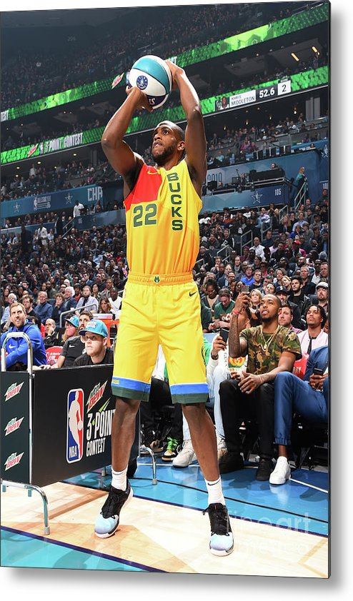Nba Pro Basketball Metal Print featuring the photograph Khris Middleton by Andrew D. Bernstein